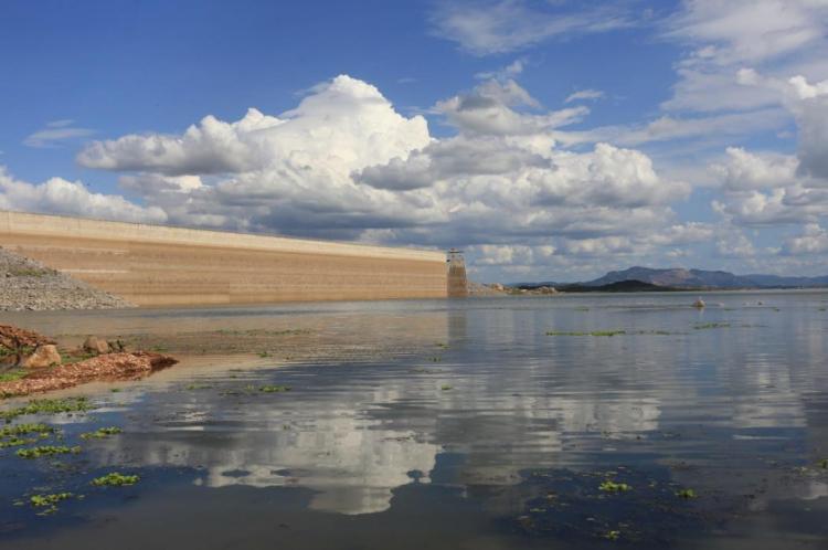 Açude Castanhão, maior reservatório do Ceará (Foto: Fábio Lima)
