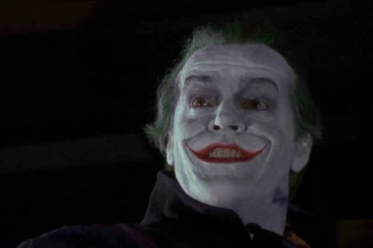 "Jack Nicholson, em ""Batman"", de 1989"