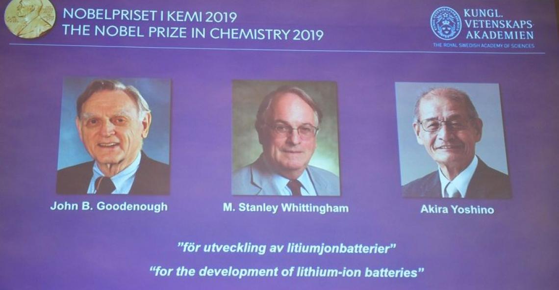 Trio de pesquisadores ganha o Nobel de Química de 2019