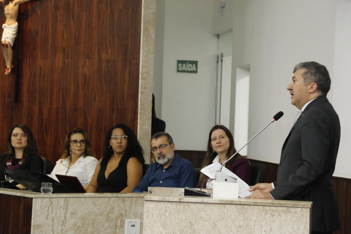 Solenidade de lançamento da Infância Protegida na Câmara Municipal de Fortaleza. (Foto: Mauri Melo/O POVO).