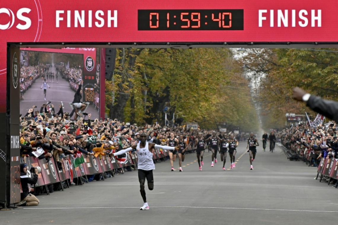 Eliud Kipchoge conseguiu correr uma maratona em menos de duas horas.