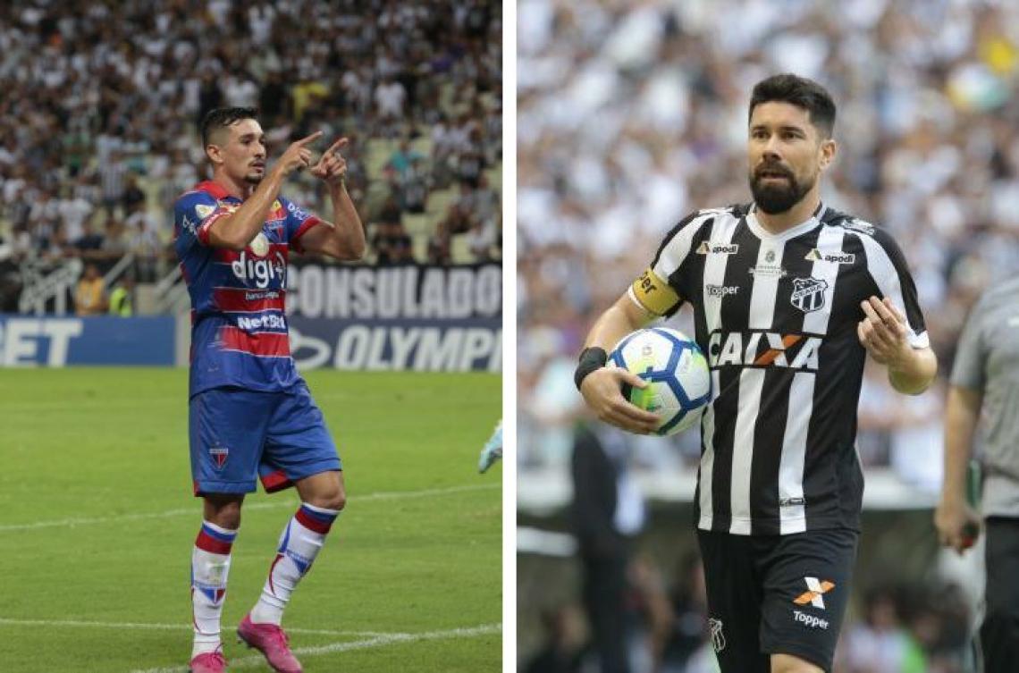 Juninho e Ricardinho articulam as principais jogadas de Fortaleza e Ceará