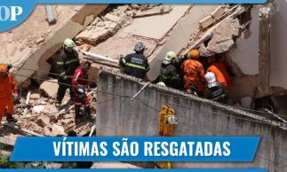 Edifício Andrea: equipes de resgate retiram vítimas dos escombros