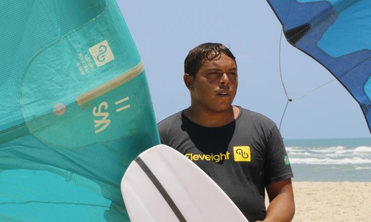Rafinha Souza foi aluno de Emmanuel quando começou a praticar o kitesurf