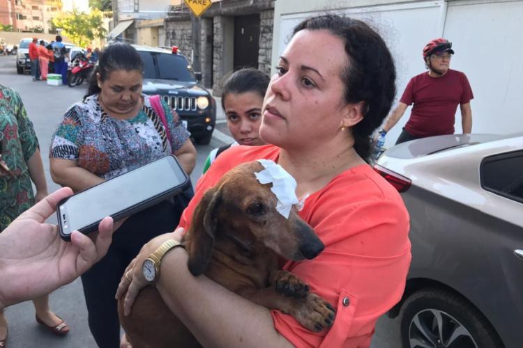 Lucky tinha 10 anos e era o único que estava no apartamento da família no momento do acidente (Foto: Neto Ribeiro)