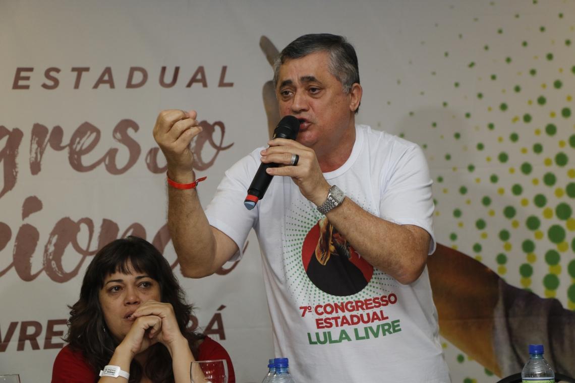 FORTALEZA, CE, BRASIL, 19-10-2019: José Guimarães, deputado federal (PT). 7º Congresso do Partido dos Trabalhadores (PT), no Hotel Gran Marquise, na avenida Beira Mar, no bairro Meireles. (Foto: Mauri Melo/O POVO).