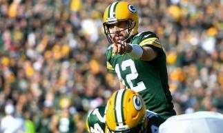 Aaron Rodgers, de 35 anos, foi grande destaque do Green Bay Packers na semana 7.