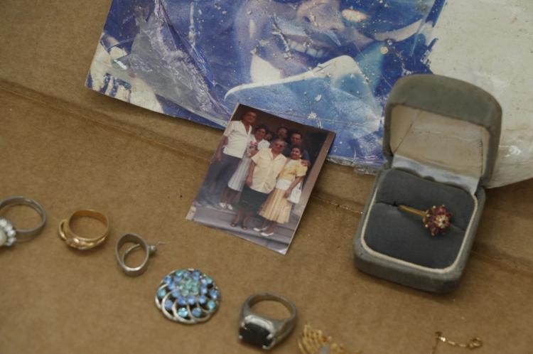 Objetos do Prédio Andréa, expostos no 4º Distrito Policial, no bairro Pio XII.