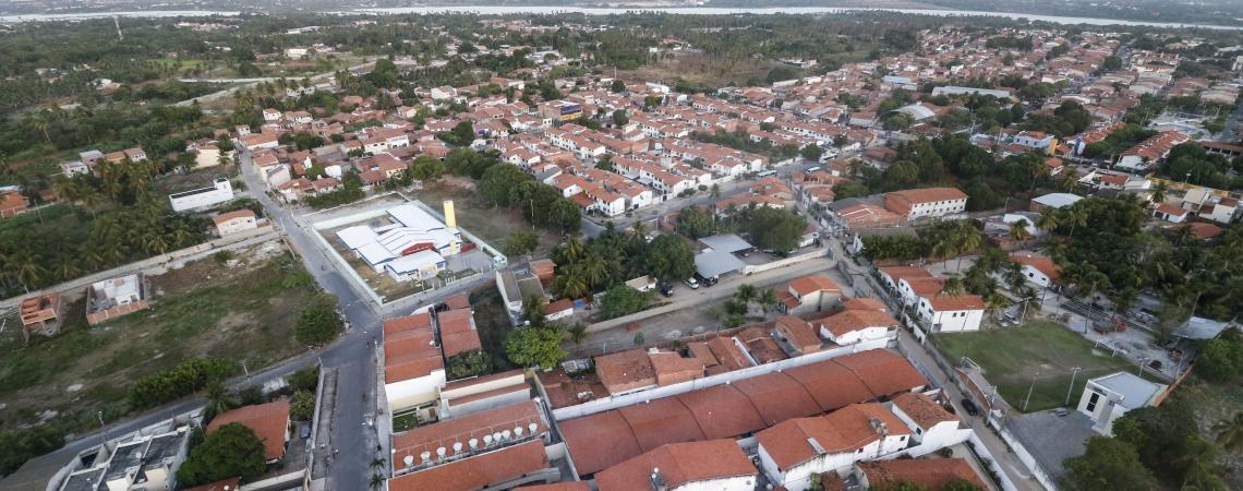 Eusébio tem alta incidência da Covid-19 em relação ao número de habitantes (Foto: ALEX GOMES/Especial para O POVO)