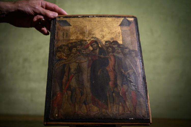 A obra-prima atribuída a Cimabue, considerado o pai do Renascimento, data de cerca de 1280