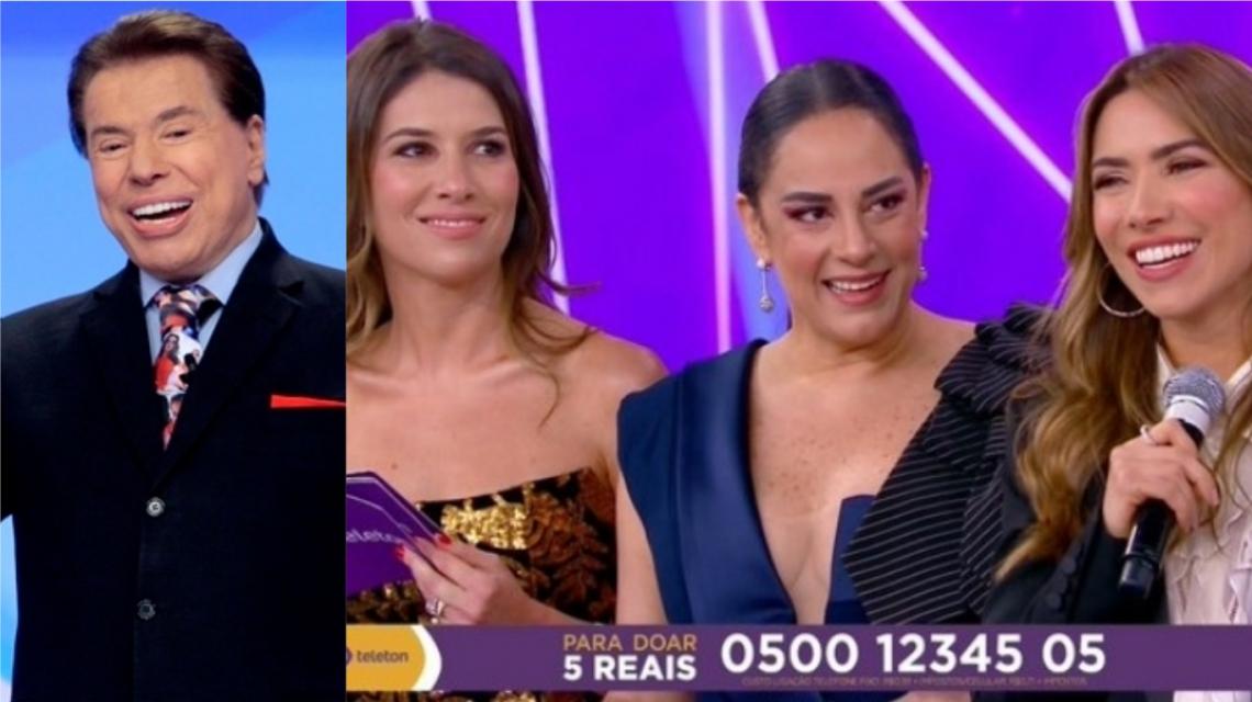 Doente, Silvio Santos é substituído por filhas no encerramento do Teleton.
