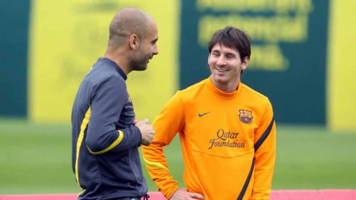 Guardiola e Messi foram campeões de tudo pelo Barcelona