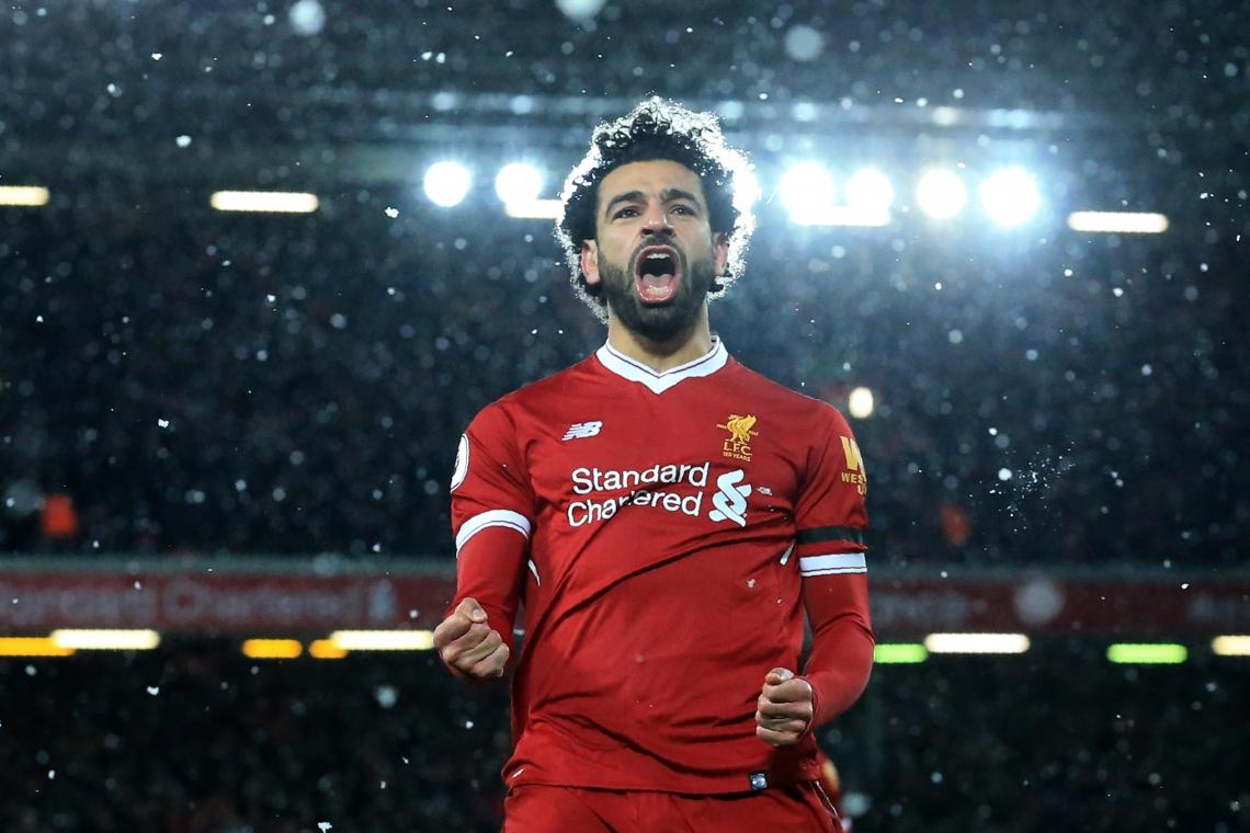 Salah deixou sua marca no final de semana.