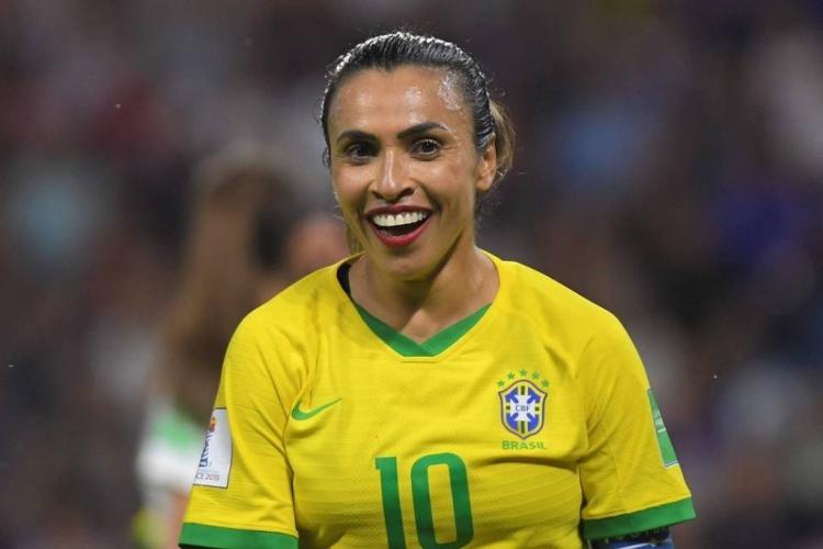 Marta já foi eleita seis vezes melhor jogadora do mundo da Fifa (Foto: AFP)