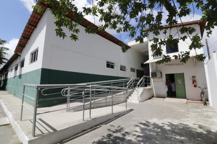 Fachada do hospital Frotinha de Messejana (Foto: MAURI MELO/O POVO)