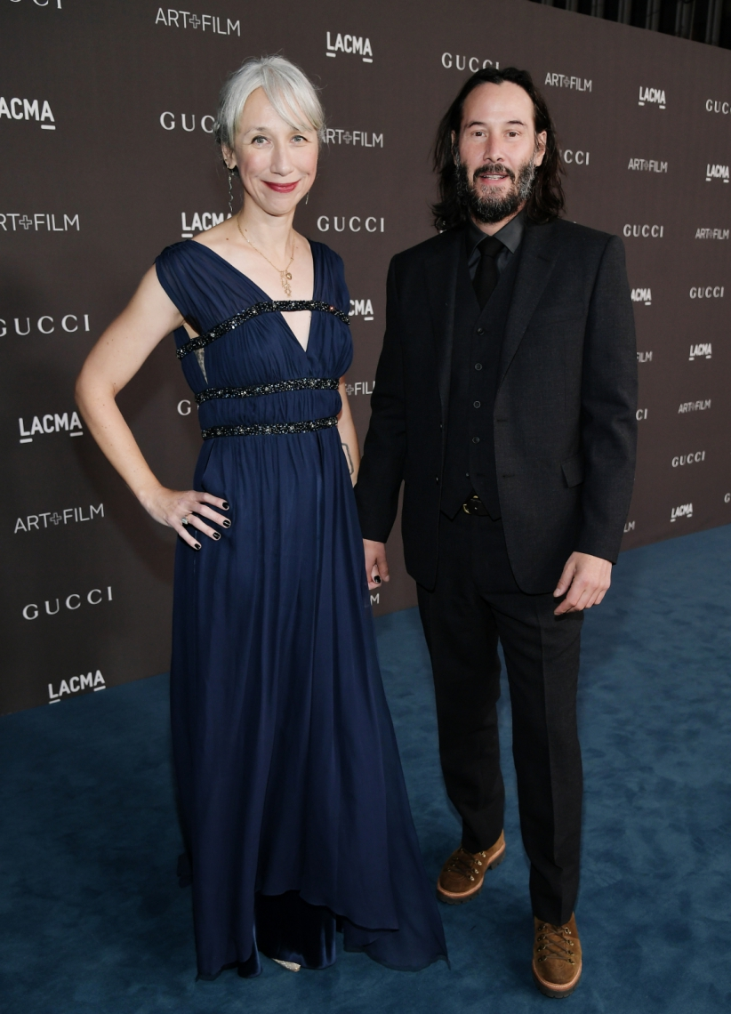 Ator Keanu Reeves está namorando a artista plástica Alexandra Grant.