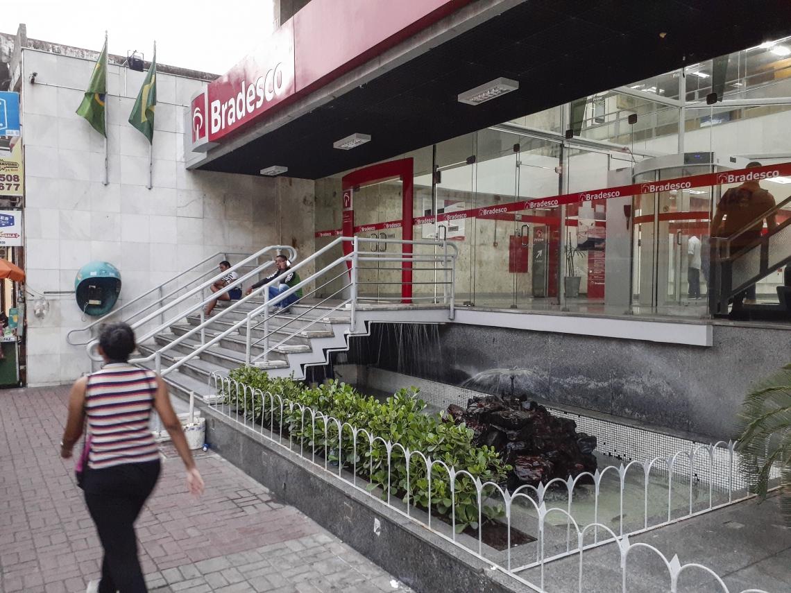 BRADESCO da rua Barão do Rio Branco, no Centro da Cidade