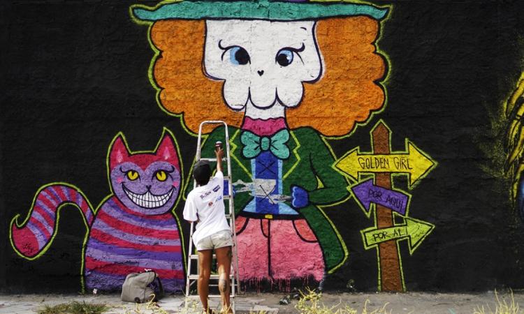 Artistas de todos os lugares do mundo pintaram murais em Fortaleza durante o evento