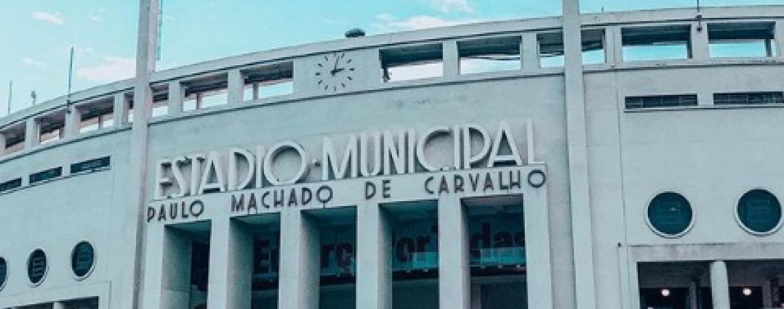 Pacaembu está sendo utilizado como hospital de campanha  (Foto: REPRODUÇÃO/INSTAGRAM PALMEIRAS)