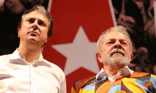 Camilo e Lula durante evento em Quixadá, em 2018