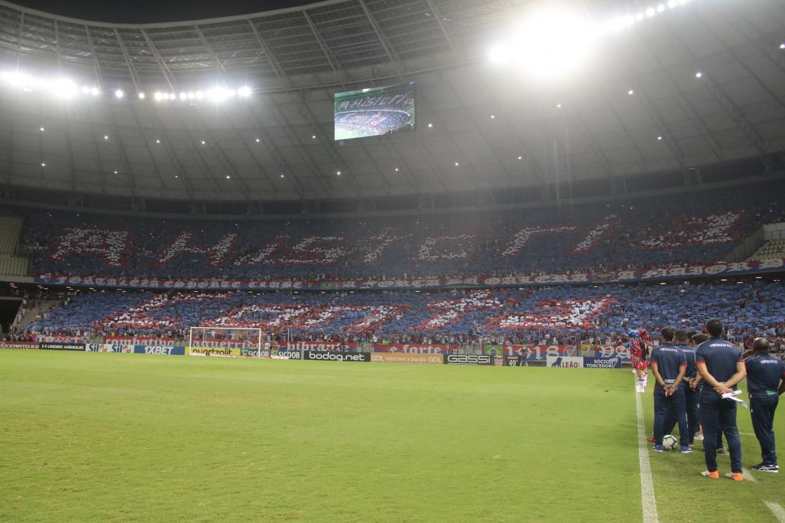 No jogo passado, na Arena Castelão, a torcida tricolor lotou o seu setor e vibrou com a vitória no Clássico-Rei.
