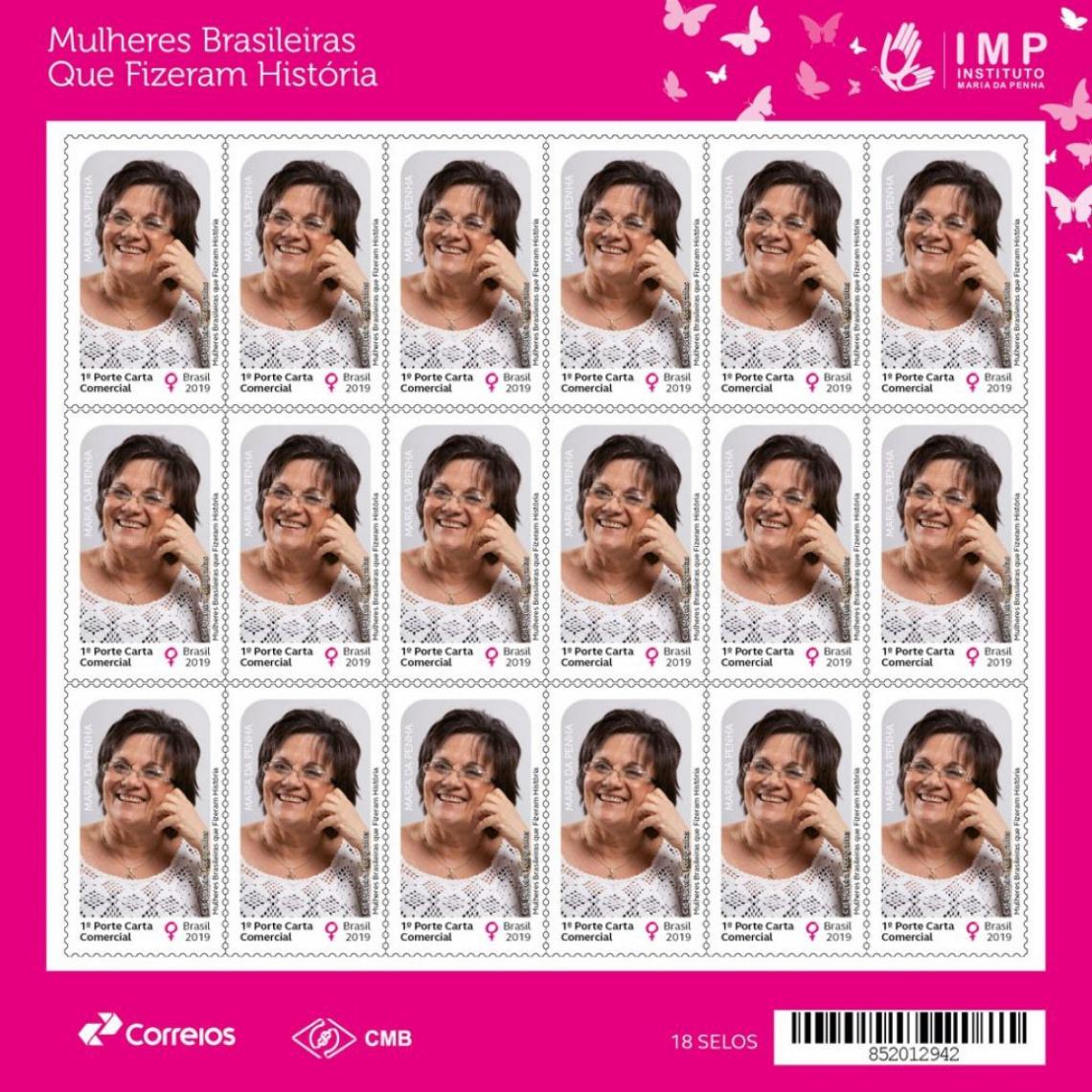 Maria da Penha é homenageada com selo postal - O POVO