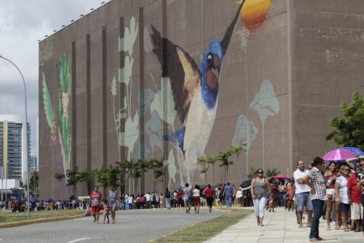 Entrada do Centro de Eventos do Ceará (Foto: Sandro Valentim)