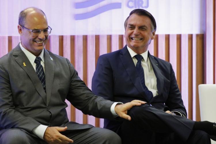 Antigos aliados, Witzel e Bolsonaro hoje estão em lados opostos (Foto: Fernando Frazão/ABR)