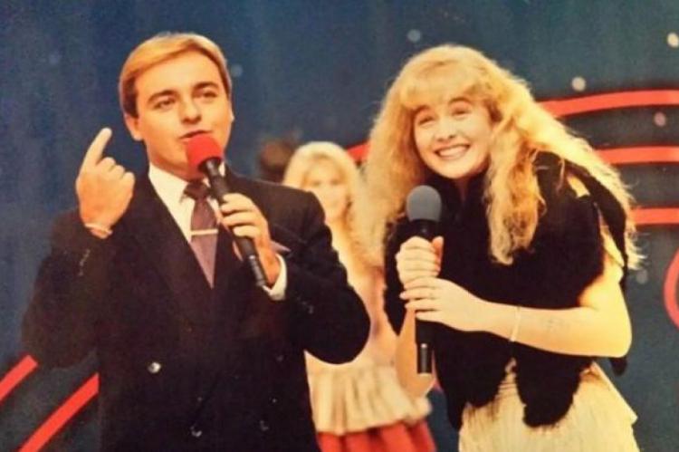 Angélica foi uma das celebridades que relembrou os tempos ao lado do apresentador