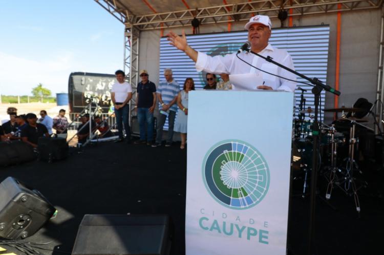 CAUCAIA, CE, BRASIL,  23-11-2019: O empresário Luciano Cavalcante anuncia o lançamento da Cidade Cauype.  (Alex Gomes/O Povo)