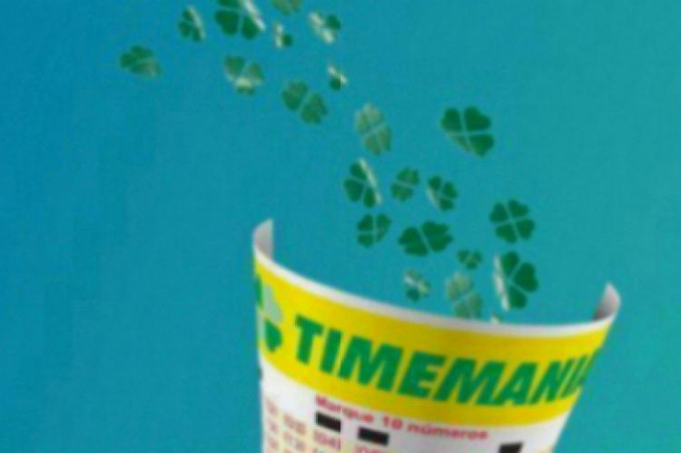 O resultado da Timemania Concurso 1412 será divulgado na noite desta quinta, 28 de novembro (28/11)