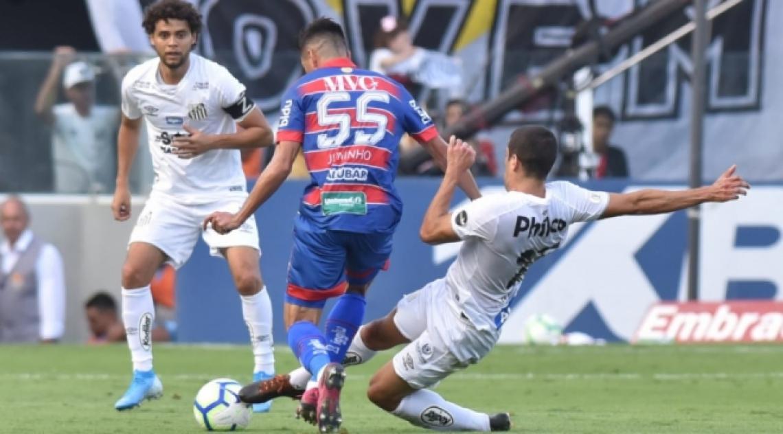 No jogo de ida do Brasileirão 2019, Santos e Fortaleza empatam em 3 a 3