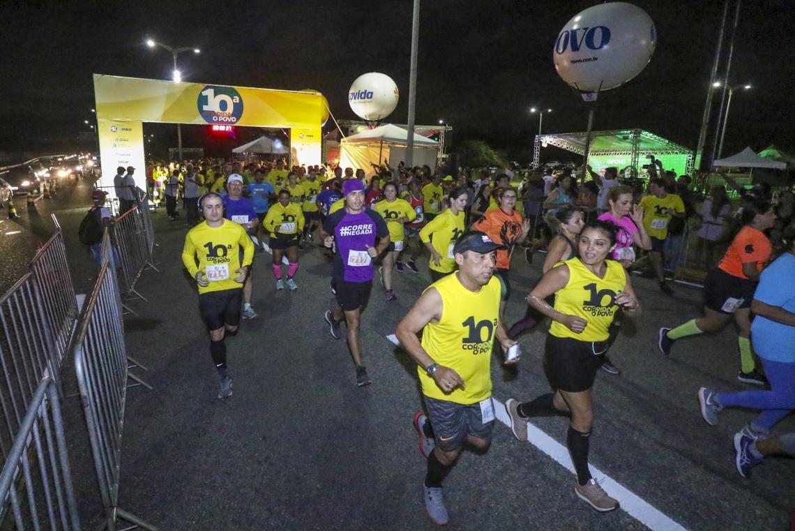 A Corrida O POVO já é tradicional e encerra o calendário de corridas noturnas do ano
