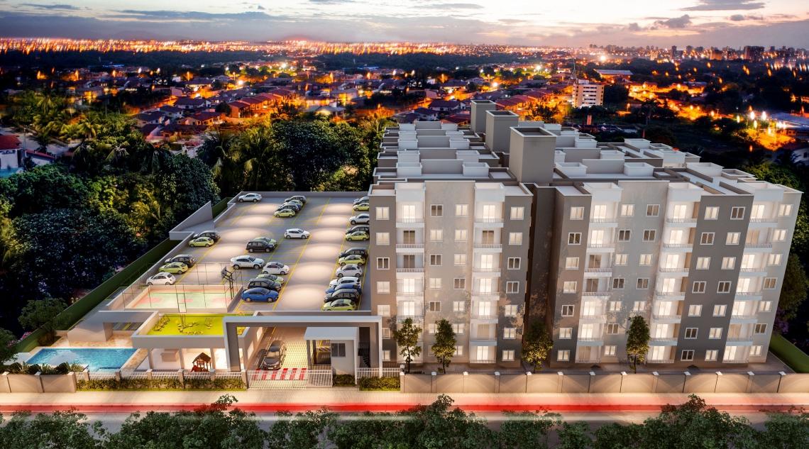 Empreendimento Pop Eusébio tem apartamentos de 45,40 m² (Foto Divulgação)