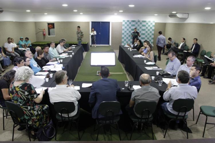 FORTALEZA, CE, Brasil. 02.12.2019: Reunião do Núcleo gestor sobre o plano gestor (Fotos: Sandro Valentim/O Povo)