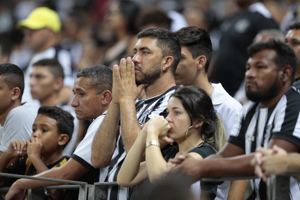 Torcida do Ceará, frustrada pela temporada ruim do clube, não compareceu tanto às arquibancadas neste ano