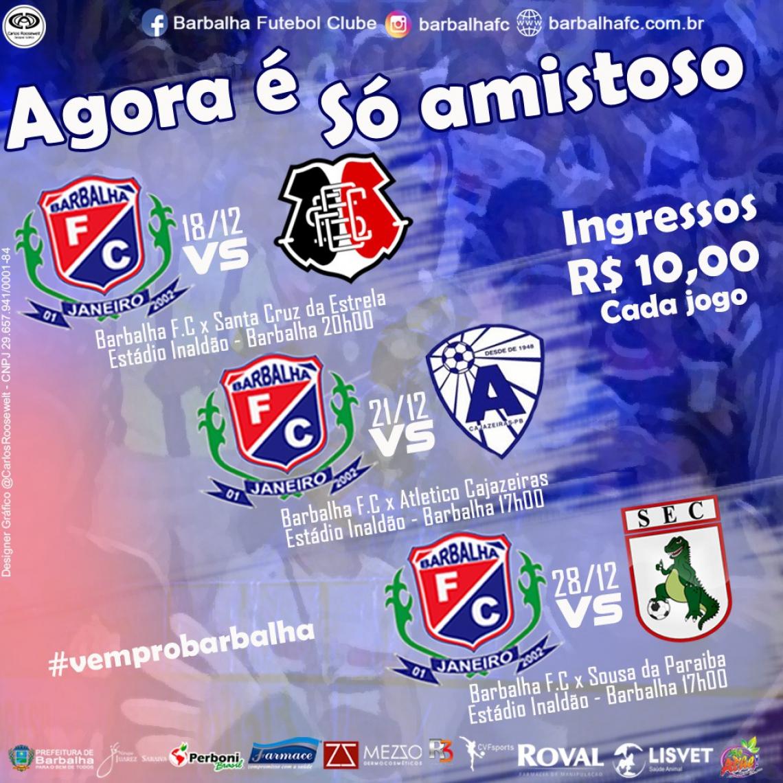 Barbalha se prepara para disputar primeira fase do Campeonato Cearense de 2020