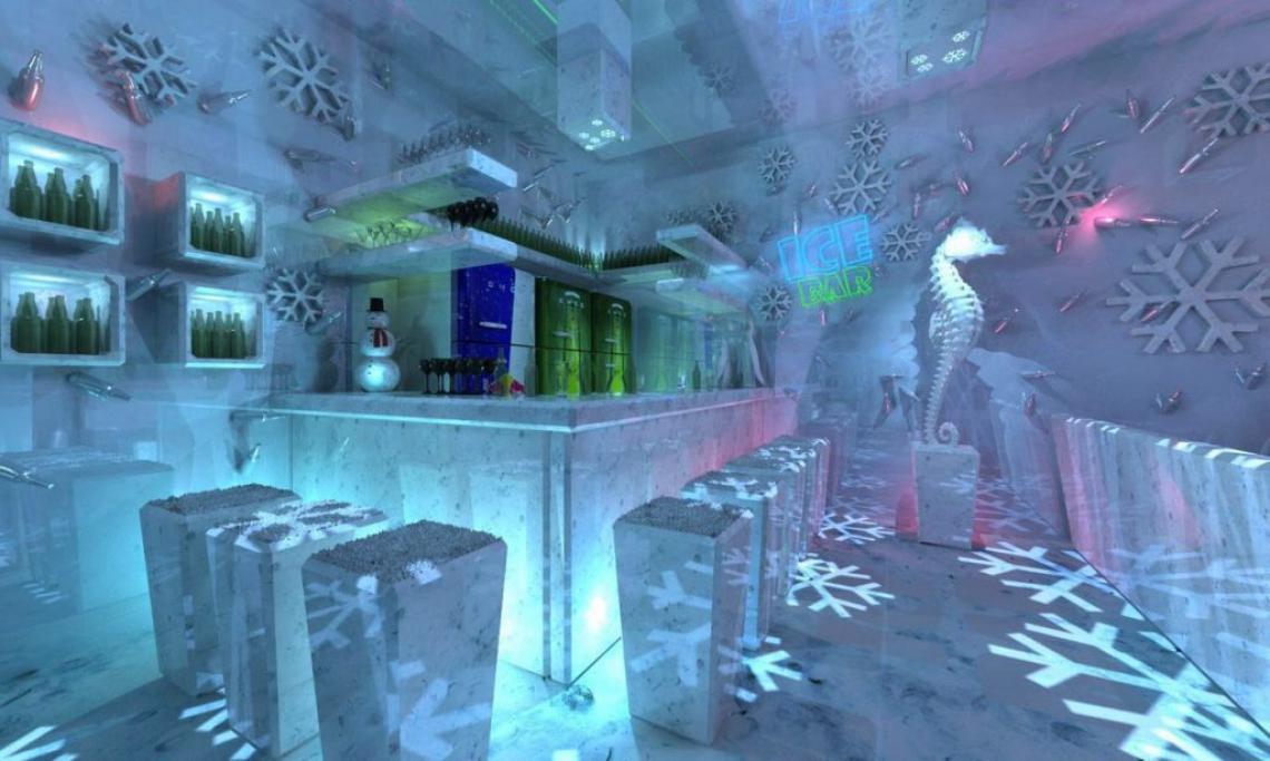 Imagem do Ice Bar Brasil de Foz do Iguaçu. O estabelecimento pertence a Douglas Bueno, mesmo proprietário do bar de gelo que será inaugurado em Fortaleza