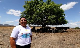 IBARETAMA, CE, BRASIL, 04-12-2019: Edivanda de Azevedo, presidente da cooperativa. Microcrédito para produtores de leite da cooperativa Várzea. (Foto: Fábio Lima/O POVO)