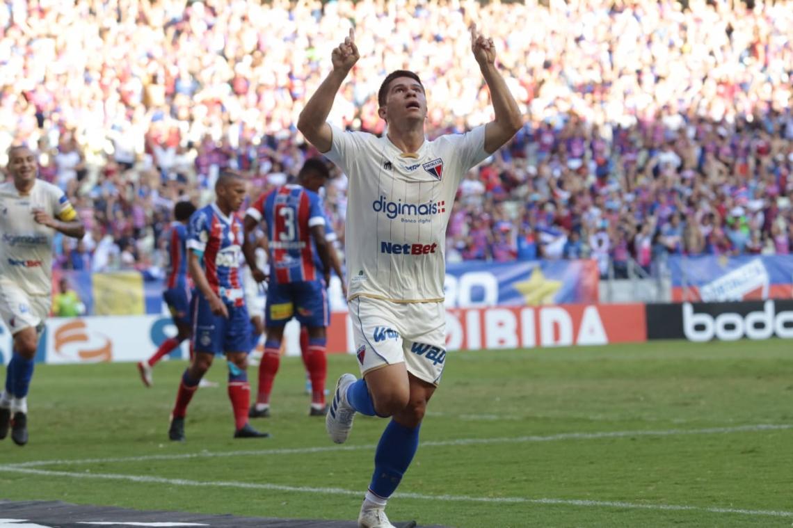 Osvaldo foi autor do primeiro gol da vitória do Fortaleza diante do Bahia e terminou esta Série A com sete tentos marcados