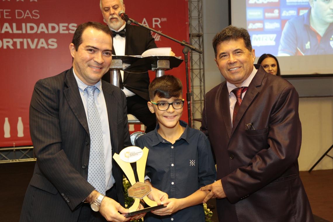 Marcelo Paz, o filho Marcel Paz e Carlos Mesquita