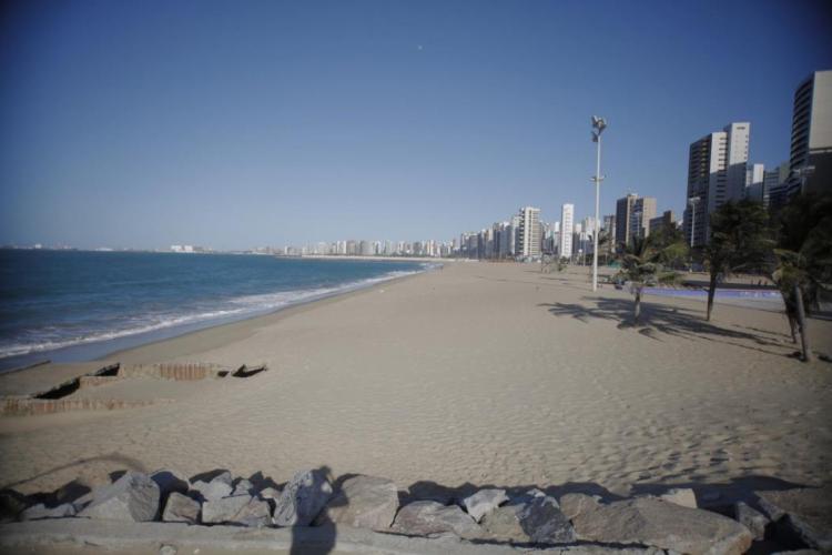 Aterrinho da Praia de Iracema (Foto: Julio caesar)