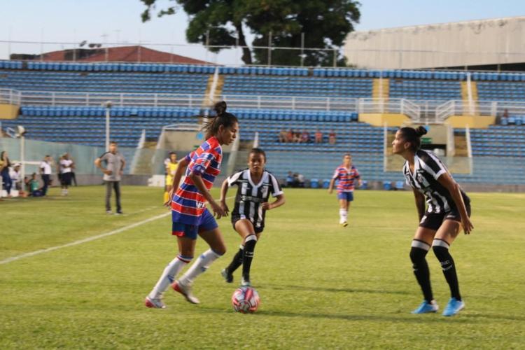 Clássico-Rainha decidiu o título do Campeonato Cearense Feminino 2019 (Foto: Bruno Oliveira /FortalezaEC)