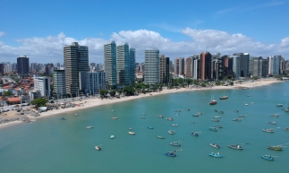 Foto tirada por drone no Mucuripe, Fortaleza