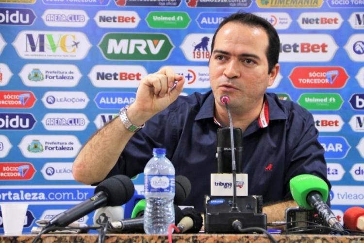 Presidente do Fortaleza, Marcelo Paz diz que patrocínio garantiria folha salarial de funcionários por três meses (Foto: Xandy Rodrigues/Divulgação)