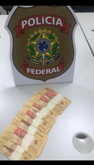 Ação em Tejuçuoca que apreendeu R$900 reais em 45 cédulas falsas de R$20.