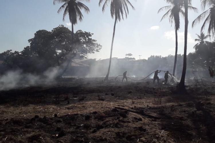 Duas pessoas foram autuados por crime ambiental após provocar incêndio em vegetação na Capital