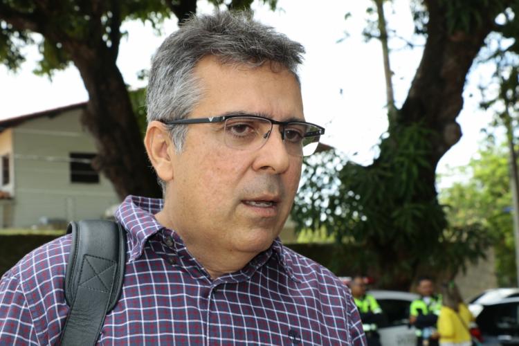 O secretário executivo de Conservação e Serviços Públicos (SCSP), Luiz Alberto Saboia, e técnicos da Secretaria Municipal de Saúde e da SCSP representaram Fortaleza no debate.. (Foto: MAURI MELO/O POVO)