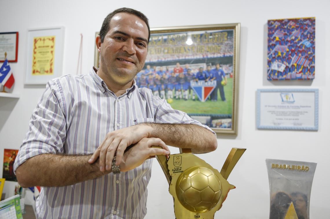 Fortaleza, Ce BR - 16.12.19 Marcelo Paz, presidente do Fortaleza Esporte Clube, em entrevista ao Jornal O POVO. Foto: (Fco Fontenele/O POVO)