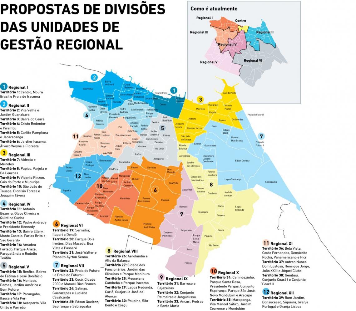 Mapa das regionais